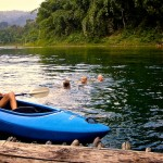 nunghouse khao sok canoeing